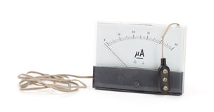 Old meter isolated Royalty Free Stock Images