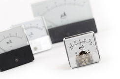 Old meter isolated Stock Image