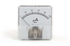 Old meter isolated Royalty Free Stock Image