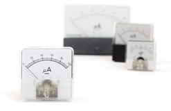 Old meter isolated Stock Photos