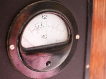 Old meter resistance Royalty Free Stock Photos