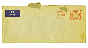 Old metered airmail envelope Royalty Free Stock Photos