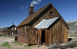 Old Methodist Church in Bodie Ghost Town Stock Photography