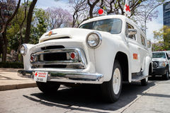 Old mexican ambulance from XX century Royalty Free Stock Photo