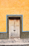 Old mexican colonial style door Royalty Free Stock Photography