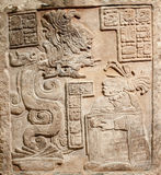 Old mexican relief carved in stone Royalty Free Stock Photo