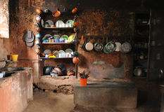 Old Mexican Rural Kitchen Royalty Free Stock Images