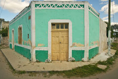 Free Old Mexican Village Of Celestun On Gulf Of Mexico With Old Green Building Storefront Royalty Free Stock Images - 52319209