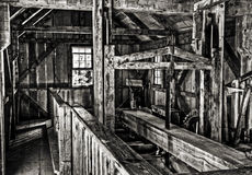 Old Michigan sawmill Royalty Free Stock Image