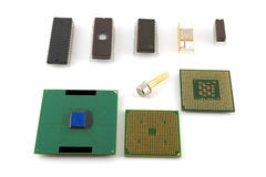 Old microchips Royalty Free Stock Photography