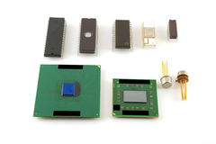 Old microchips Royalty Free Stock Images