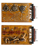 Old microcircuit board Stock Photography