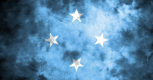 Old Micronesia grunge background flag.  Royalty Free Stock Images