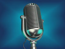 Old microphone Stock Images