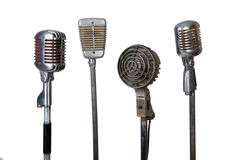 Old microphone collection Stock Photography