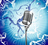 Old Microphone Music Background Royalty Free Stock Images