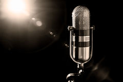 Old microphone Royalty Free Stock Image