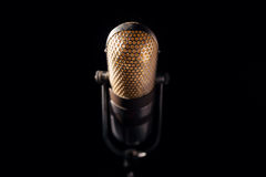 Old microphone. An old pro studio microphone, close up photo Stock Images