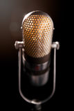 Old microphone. An old pro studio microphone, close up photo Royalty Free Stock Image