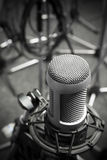Old microphone. An old pro studio microphone, close up photo Stock Photography