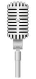 Old microphone vector illustration Royalty Free Stock Photos