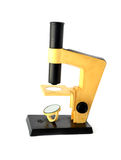 Old microscope. On a white background Stock Photo