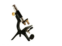 Old Microscope Royalty Free Stock Photos