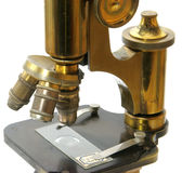 Old microscope Royalty Free Stock Images