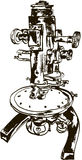 Old microscope Stock Photography