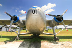 Old military aircraft Stock Photography