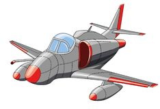 Old military aircraft on white background. Vector illustration Royalty Free Stock Photography