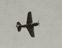 Old military airplane Royalty Free Stock Photos