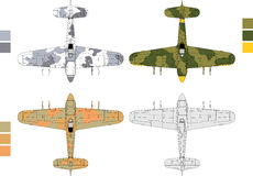 Old military airplane Royalty Free Stock Images