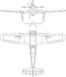 Old military airplane Royalty Free Stock Image