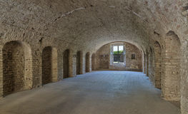 Old military barrack interior . Royalty Free Stock Image