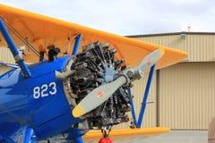 Old Military Bi-plane Royalty Free Stock Image