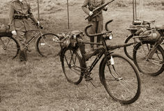 Old military bicycle Royalty Free Stock Image