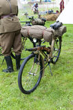 Old military bicycle Stock Image
