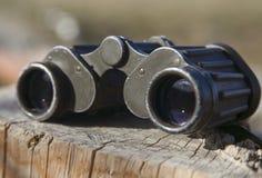 Old military binoculars Stock Photo