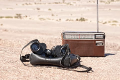 Old military binoculars Royalty Free Stock Images