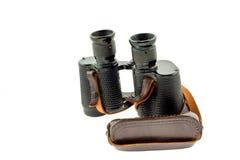 Old military black binoculars Royalty Free Stock Image
