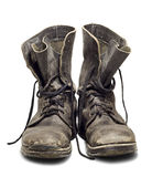 Old military boots Stock Photography