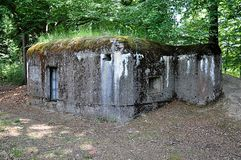 Old military bunker stock photos