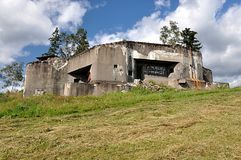Old military bunker royalty free stock photos