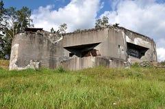 Old military bunker, landscape Jeseniky, Czech republic, Europe stock image