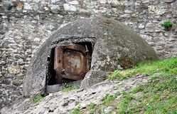 Old military bunker royalty free stock image