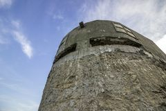 Old Military Bunker to protect against attacks. Old Military bunker for protection against attacks near the town of Obzor in Bulgaria to the Black Sea royalty free stock image