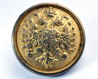 Old military button of Austria-Hungary Royalty Free Stock Photo