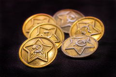 Old military buttons Stock Photography
