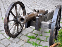 Old military cannon Royalty Free Stock Photo